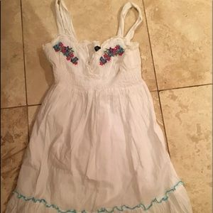 White embroidered floral dress by rue 21